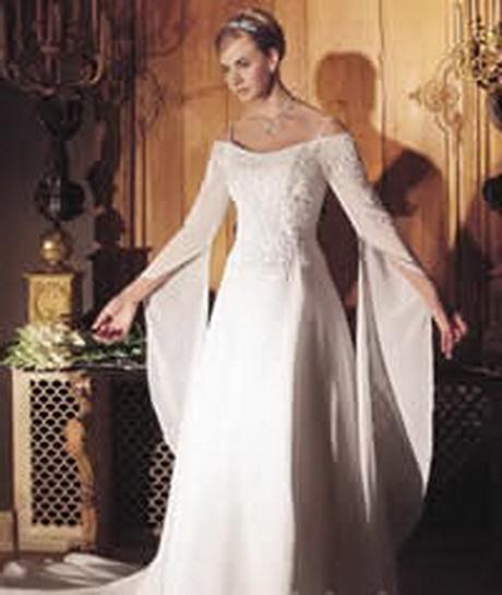 Medieval Wedding Dress Bridal Gown Silk Wedding Dress: Renaissance Bridal Gowns