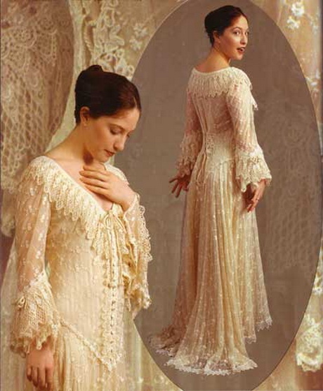 Romantic vintage wedding dresses for Romantic vintage lace wedding dresses