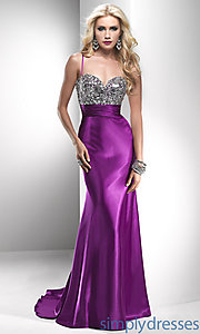 Buy Long Spaghetti Strap Sweetheart Gown at SimplyDresses