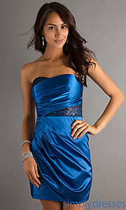 Buy Strapless Sweetheart Short Dress at SimplyDresses