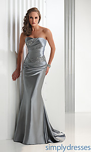 Buy Elegant Strapless Flirt Prom Dress at SimplyDresses