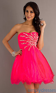 Buy Short Babydoll Dress 6908 at SimplyDresses