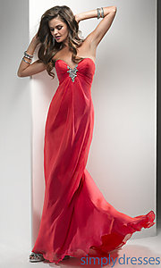 Buy Full Length Strapless Sweetheart Dress at SimplyDresses