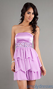 Buy Short Strapless Empire Waist Dress at SimplyDresses