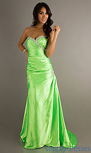 Buy Floor Length Strapless Mori Lee Dress at SimplyDresses