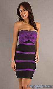 Buy Form Fitting Strapless Vibrant Dress at SimplyDresses