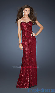Buy Long Strapless Sweetheart Sequin Dress at SimplyDresses