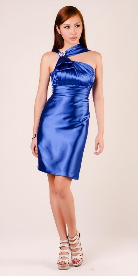 A darling pleated silk satin cocktail dress