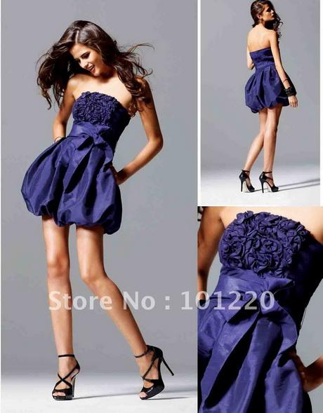 Purple bubble dress semi formal dress strapless teen cocktail dress