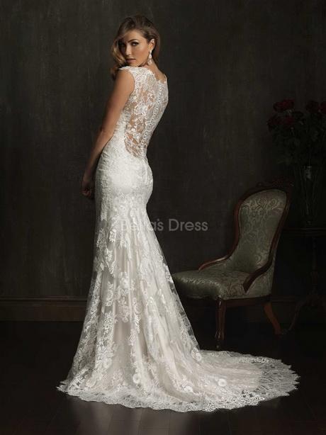 Sheath lace wedding dresses for Sheath style wedding dress