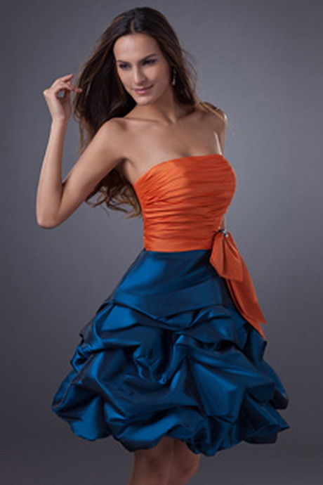 Short Orange Homecoming Dresses