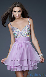 Buy Cute Short Embellished Party Dress at SimplyDresses