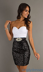 Buy Short Strapless Homecoming Dress by Alyce at SimplyDresses