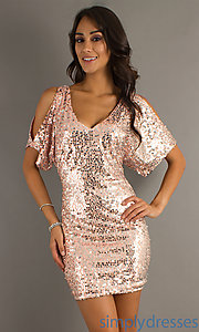 Buy Short Sequin Dress at SimplyDresses