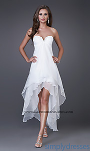 Buy Strapless High-Low Dress at SimplyDresses
