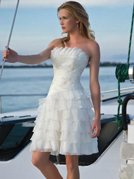 Short beach wedding dresses for Short white beach wedding dresses