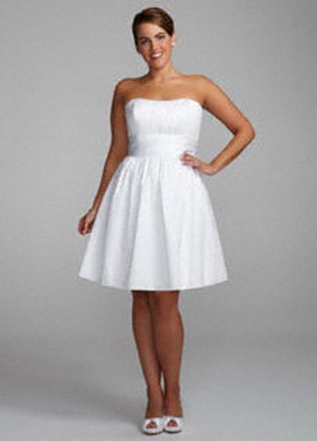 Short plus size wedding dresses