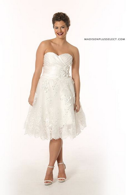 Short plus size wedding dresses for Short wedding dresses plus size