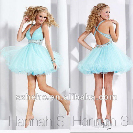 Short Puffy Prom Dresses With Straps 96