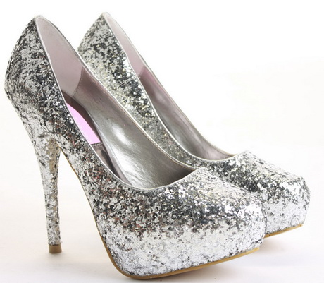 silver high heels for prom