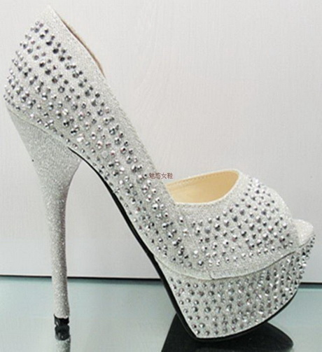 Silver High Heels For Wedding