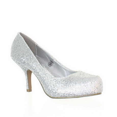 Womens Evening Shoes Silver