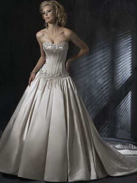 Silver wedding dress for Silver ball gown wedding dresses