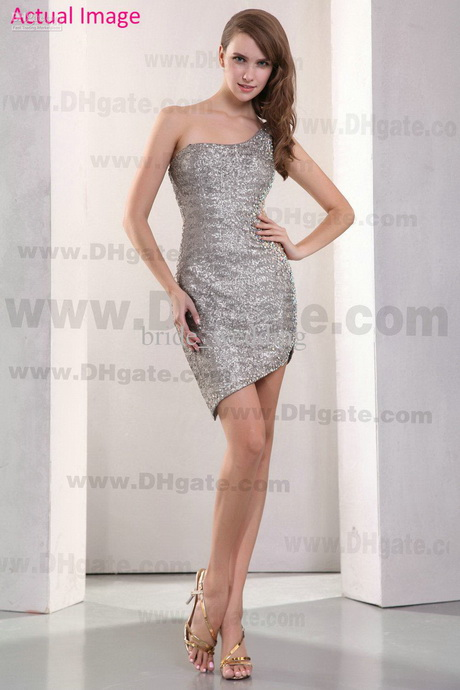 Short Silver Cocktail Dresses 90