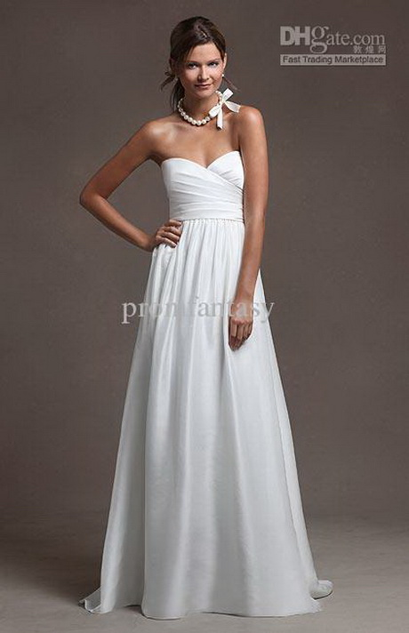 Simple beach wedding dresses casual for Simple casual wedding dresses