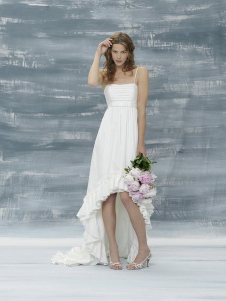 Simple Beach Style Wedding Dress : These beach wedding dresses collection combines rich organic matter