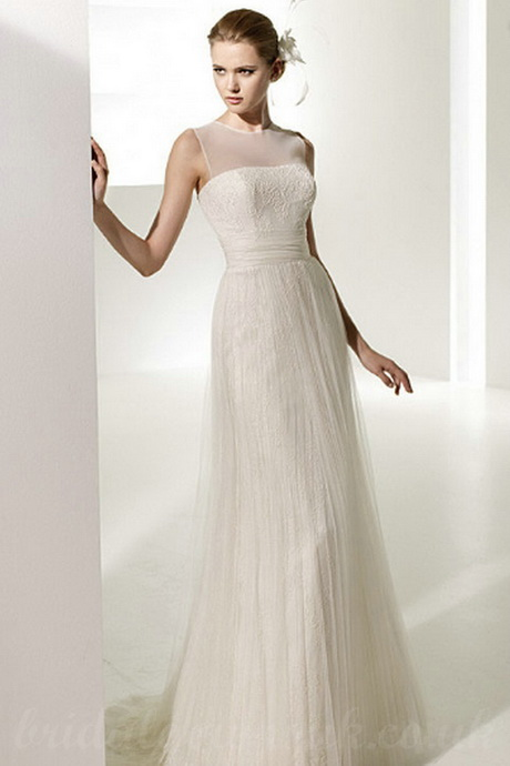 Simple lace dress for Simple inexpensive wedding dresses