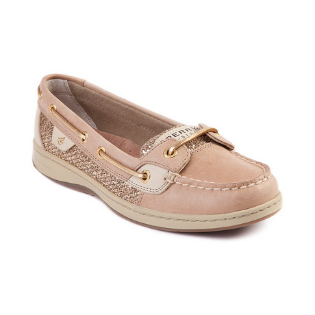 Womens Sperry Top Sider Angelfish Boat Shoe Linen Gold