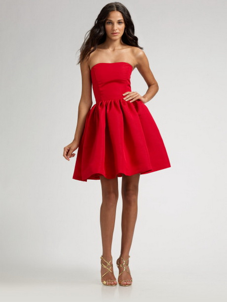Strapless Red Cocktail Dresses 77
