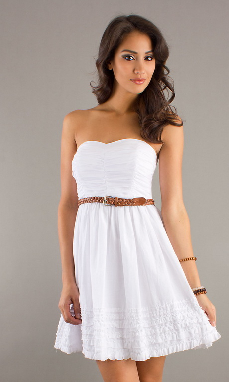 Overstock uses cookies to ensure you get the best experience on our site. Robin DS Women's White Chiffon Wedding Dress. 3 Reviews. SALE ends in 2 days. Shop the Trends Women's Strapless Dress with Semi-Sweetheart Neckline and Crochet Lace Inserts On The Waist and Hemline.