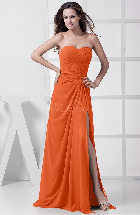 tangerine bridesmaid dresses With tangerine dresses for wedding