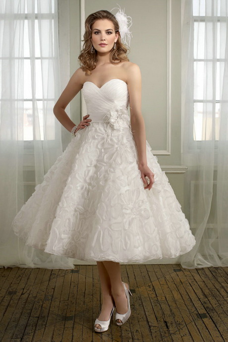 Tea length beach wedding dresses for Cheap wedding dresses tea length