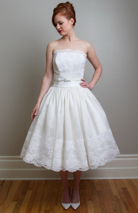Tea Length Vintage Wedding Dresses