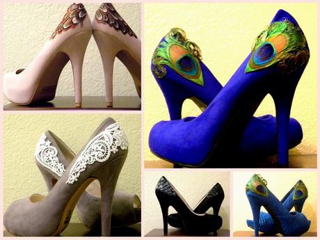 Как украсить чёрные туфли своими руками 44