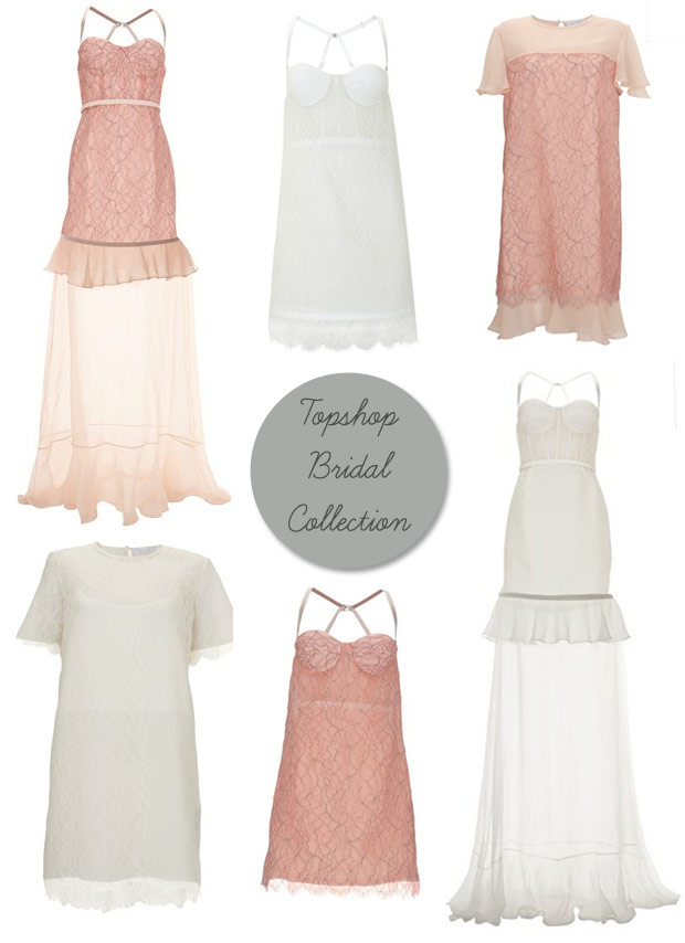 Topshop Bridal Collection - Tie the Knot - White and Blush Dresses