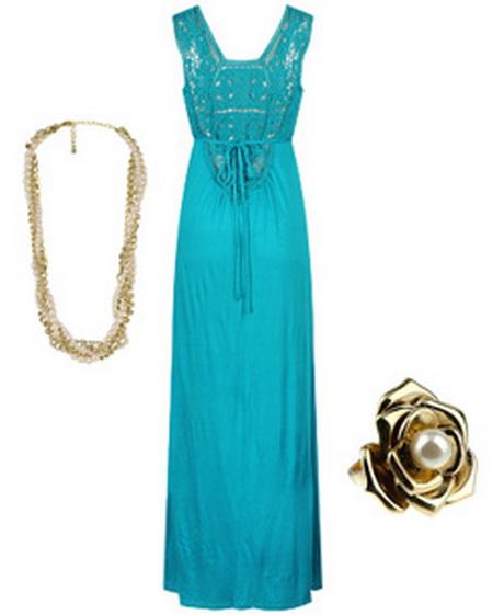 Turquoise summer dress - photo #24