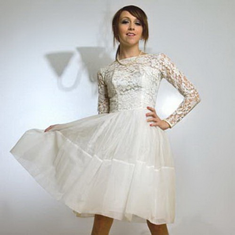 Unique vintage short wedding dresses for Short vintage wedding dress