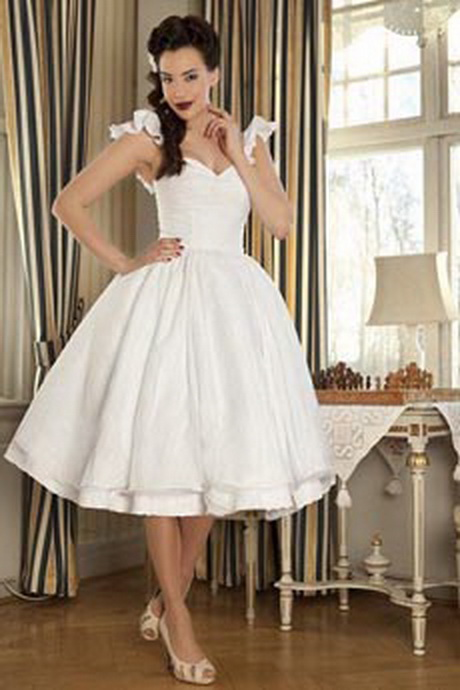 Classic Wedding Dresses Short : Vintage short wedding dress