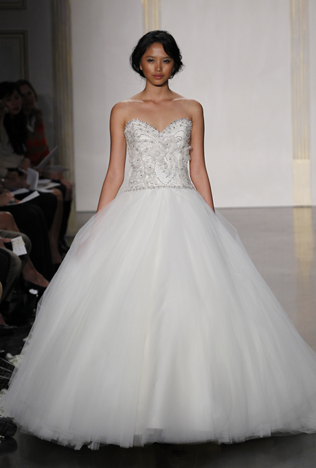 1950s inspired gown from Lazaro