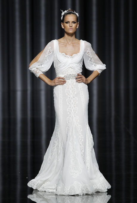 1970s inspired Pronovias Bohemian Dress