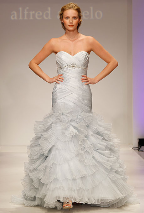 Pastel blue Alfred Angelo Bridal Gown 2308