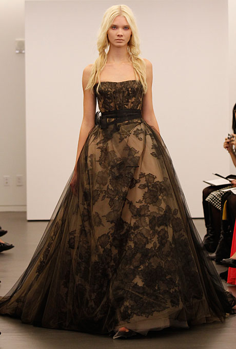 Black & Blush Vera Wang Bridal Gown