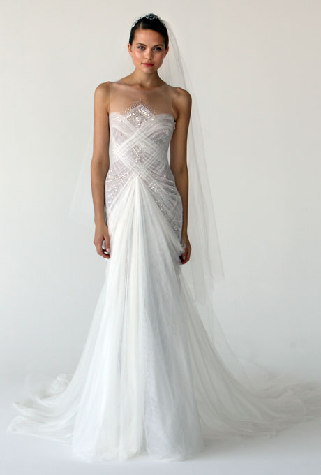 Marchesa Art Deco inspired Bridal Gown