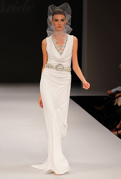 1930s inspired Badgely Mischka Wedding Dress