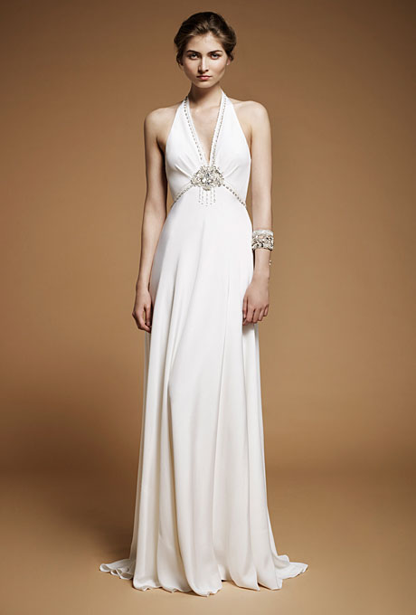 Jenny Packham Lilac - 1930s inspired halterneck wedding dress