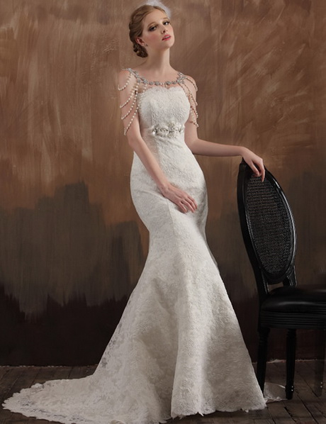 Vintage wedding dresses 1920s for 1920s vintage style wedding dresses